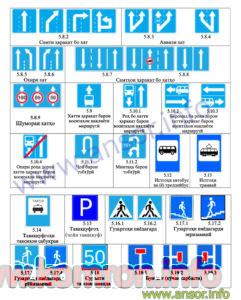 dorojnie znaki na tadjikskom yazike