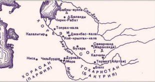 Карта Древнего Хорезма