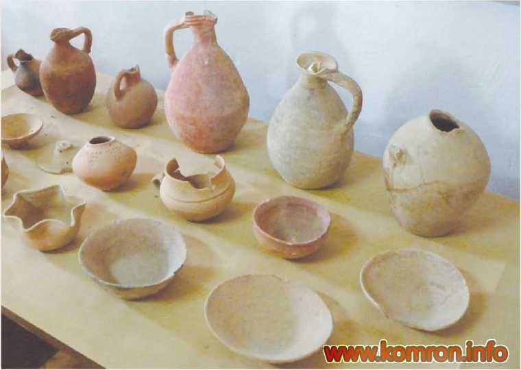 Гончарные изделия. Древнее поселение Саразм. Таджикистан
