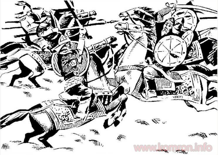 Сражение в Сунге. Рисунок худ. Р. Исакова