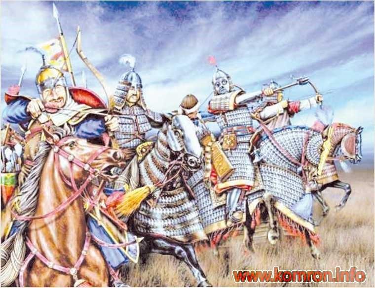 Тюркские воины перед наступлением