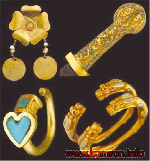 Золотой браслет из кладов Древней Бактрии