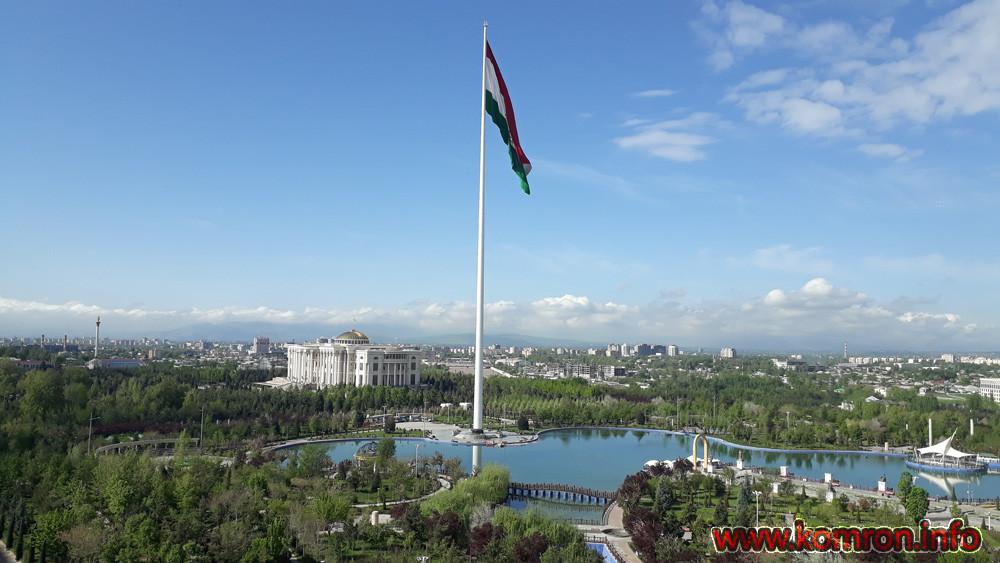 Сурати Шаҳри Душанбе: Боғи парчами миллӣ
