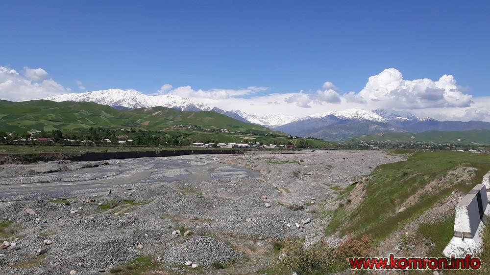 Река Ширкент в Таджикистане.