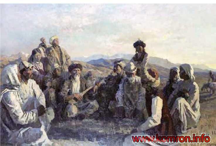 «Tukhtagul dar bayni mardum». A. CHuykov