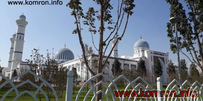 Masjidi nav-kaloni shahri Dushanbe