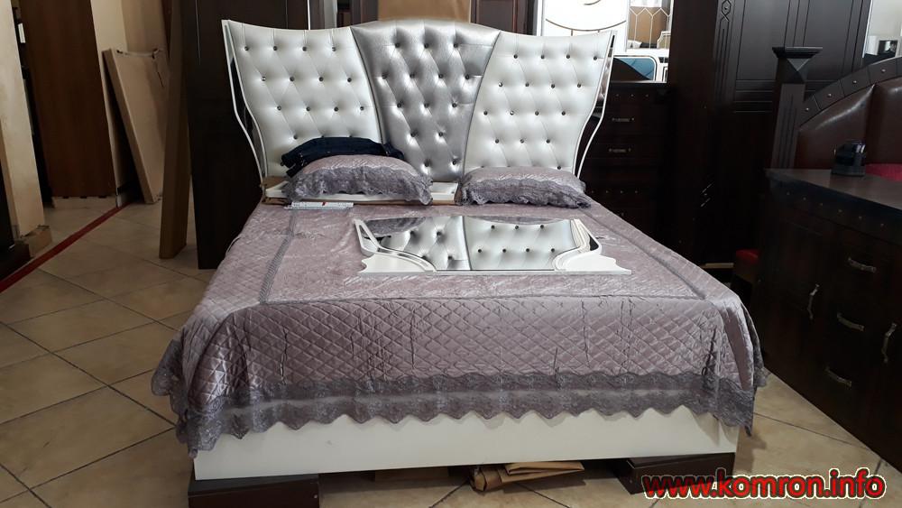 Кожаный - белый кровать по цене 400 $