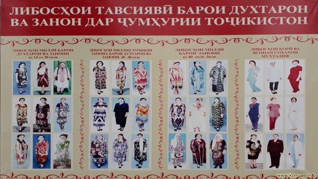 Фото таджикских национальных платья