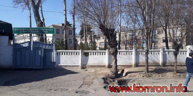 Школа 35 в городе Душанбе