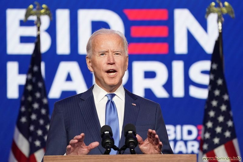 Democratic Presidential Candidate Joe Biden makes address about election results in Wilmington, Delaware